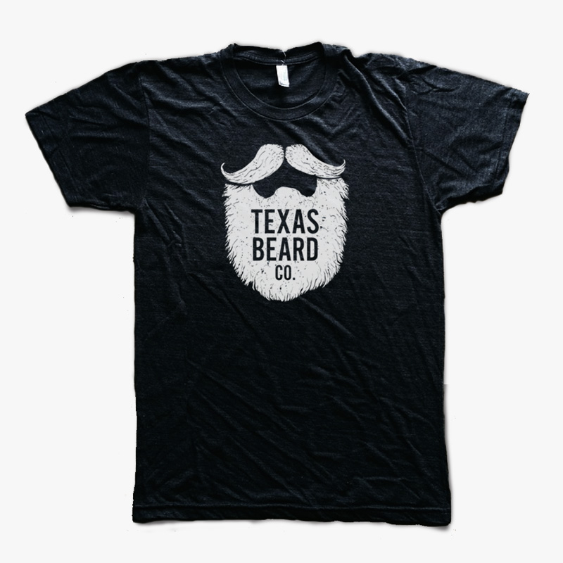 texas beard company t shirt black texas beard company