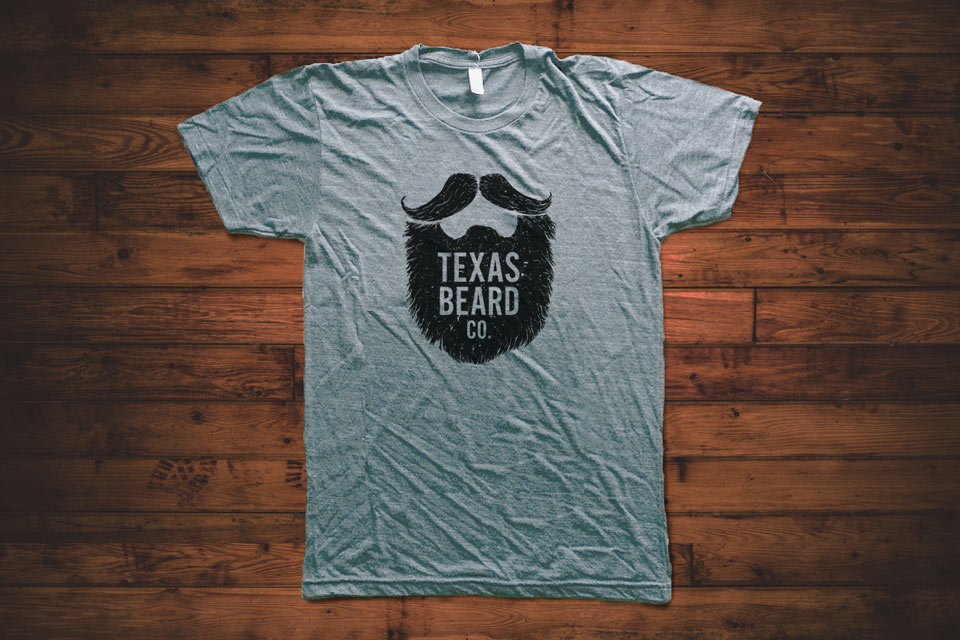 texas beard company t shirt grey texas beard company
