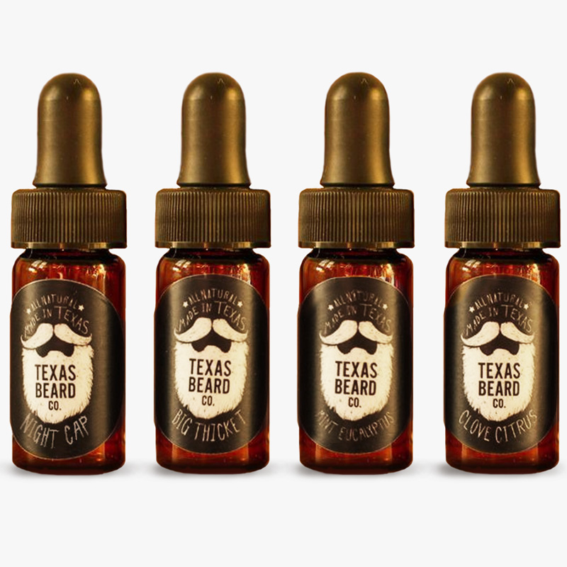 beard oil trial size 4 pack texas beard company. Black Bedroom Furniture Sets. Home Design Ideas