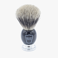 Parker BCPB Pure Badger Black/Chrome Shaving Brush w/Stand
