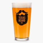 Texas Beard Company Beer Glass