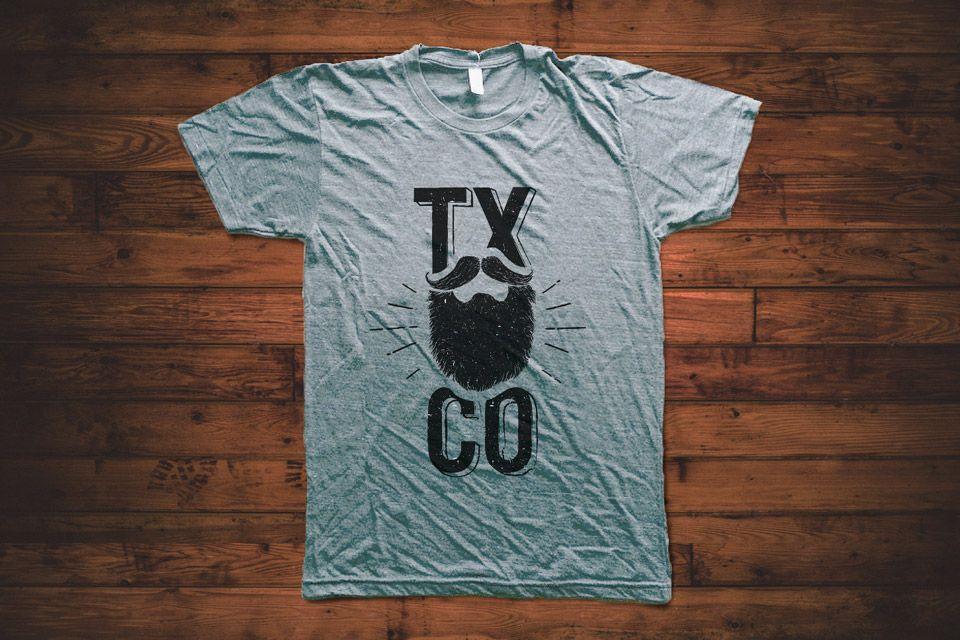 Glorious beard shirt texas beard company for Texas tee shirt company